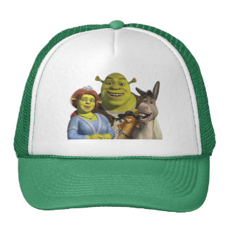 Fiona, Shrek, Puss In Boots, And Donkey Trucker Hat
