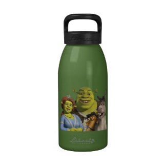 Fiona, Shrek, Puss In Boots, And Donkey Reusable Water Bottle