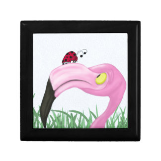 Fiona The Flamingo And Her Visitor Jewelry Box