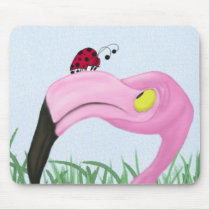 Fiona The Flamingo And Her Visitor Mousepad