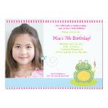 Fiona the Green Pond Frog *PHOTO* Birthday 5x7 Card