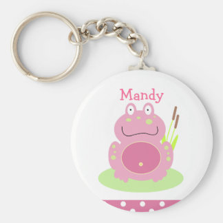 FIONA THE PINK FROG Favor or Name Tag KEYCHAIN