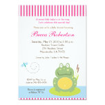 Fiona the Pond Frog (Green) Baby Shower Invite