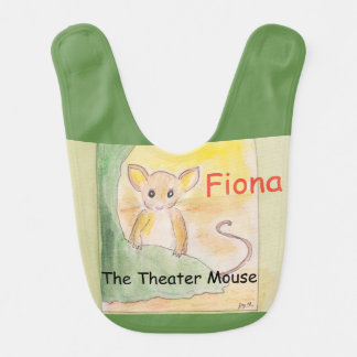 Fiona the Theater Mouse Baby Bib