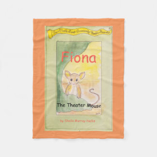 Fiona the Theater Mouse Fleece Blanket