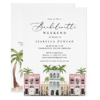 Fiona - Watercolor Charleston SC Bachelorette Invitation