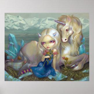 Fiona y el ARTE del unicornio IMPRIMEN a la hada d Poster