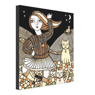 Fionas Highland Fling Gallery Wrapped Canvas