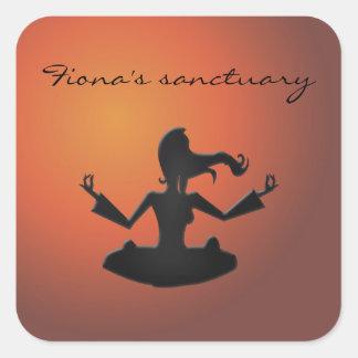 Fiona's sanctuary square sticker