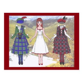 Fionna of Scotland Paper Doll Postcard