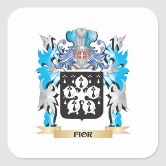 Fior Coat of Arms - Family Crest Square Sticker
