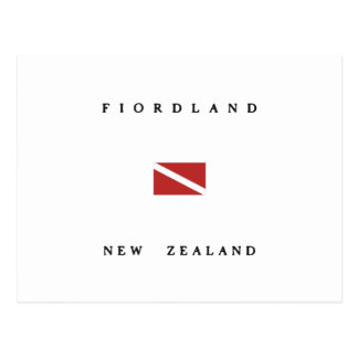 Fiordland New Zealand Scuba Dive Flag Postcard