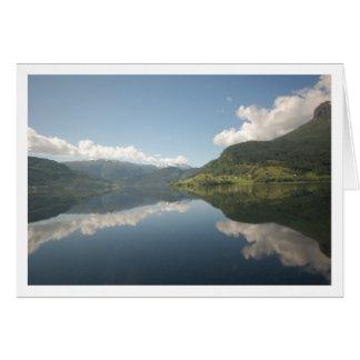 Fiordo de Sognefjord Tarjeta De Felicitación