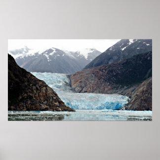 Fiordo del brazo de Tracy y glaciar Alaska V del Póster