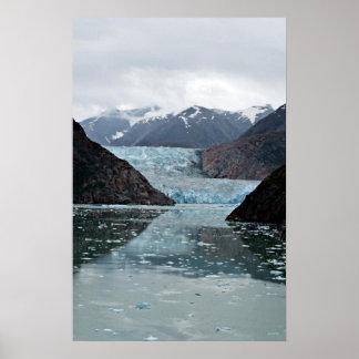 Fiordo del brazo de Tracy y glaciar del aserrador Posters