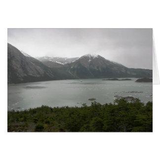 Fiordo del Pia, Chile, con la yegua australis en Tarjeta De Felicitación