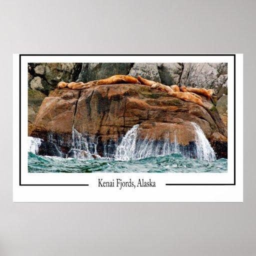 Fiordos de Kenai Póster