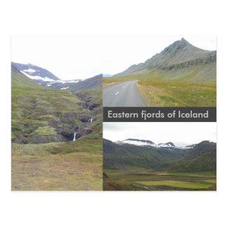 Fiordos del este de Islandia Postal