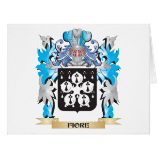 Fiore Coat of Arms - Family Crest Greeting Cards