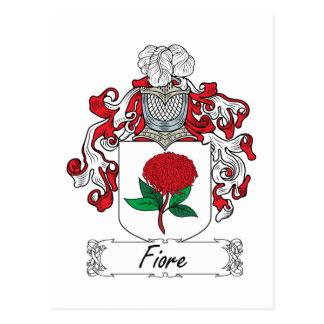 Fiore Family Crest Postcard