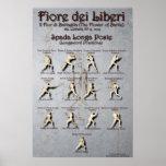 Fiore Longsword Poste Poster