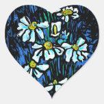 Fiore, productos florales del arte pegatina corazón personalizadas