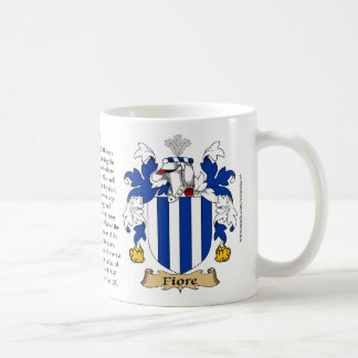Fiore, the Origin, the Meaning and the Crest Coffee Mug