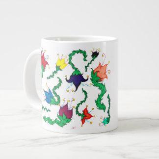 Fiori Riot: Colorful, whimsical blossoms! Giant Coffee Mug