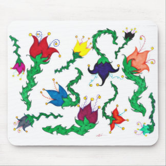 Fiori Riot: Colorful, whimsical blossoms! Mouse Pad