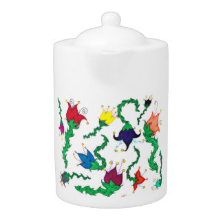Fiori Riot: Colorful, whimsical blossoms! Teapot