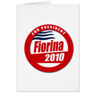 Fiorina 2010 Button Greeting Cards