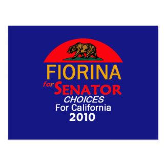 Fiorina 2010 California Postcard