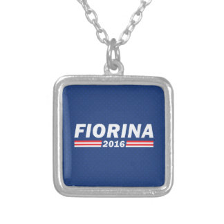 Fiorina 2016 (Carly Fiorina) Square Pendant Necklace