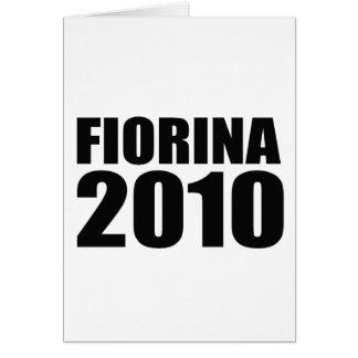 Fiorina in 2010 card