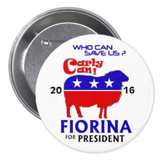 Fiorina para el presidente 2016 pin redondo 7 cm