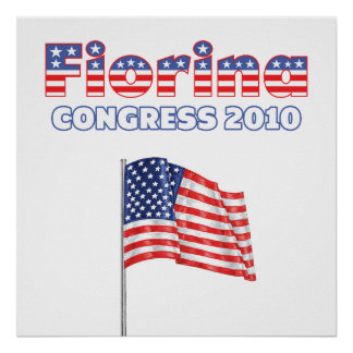 Fiorina Patriotic American Flag 2010 Elections Poster