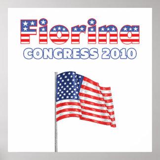 Fiorina Patriotic American Flag 2010 Elections Poster