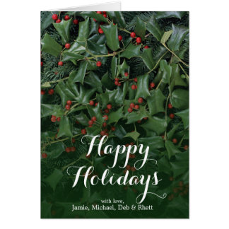 Fir and Chinese Holly Card