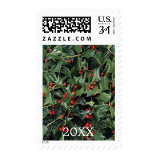 Fir and Chinese Holly Stamp