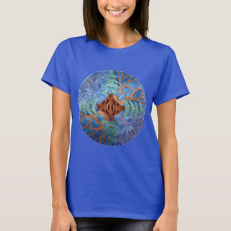 Fir and Deciduous Tree Mandala, watercolor pencil T-Shirt