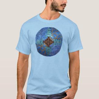 Fir and Deciduous Tree Mandala, watercolor pencil T-Shirt