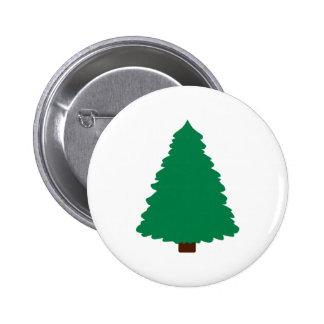 Fir christmas tree pinback button