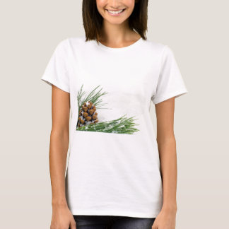 Fir Cone with Snow Flakes Women's T-shirt