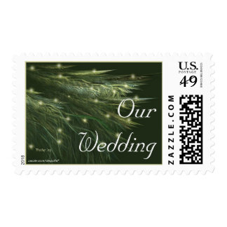 FIR FRONDS Wedding Invitation Postage