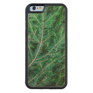 Fir tree branch carved® maple iPhone 6 bumper case
