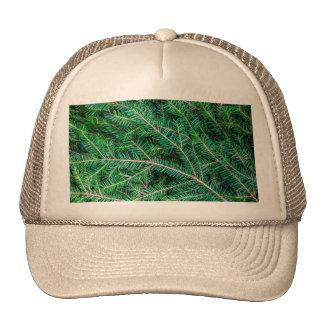 Fir tree branch trucker hat