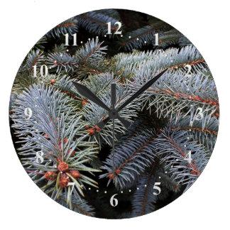 fir tree buds large clock