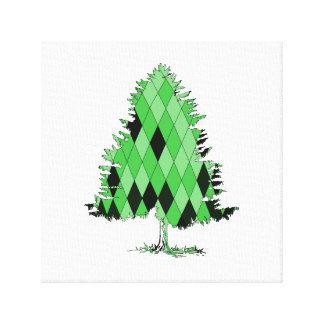 fir tree canvas print