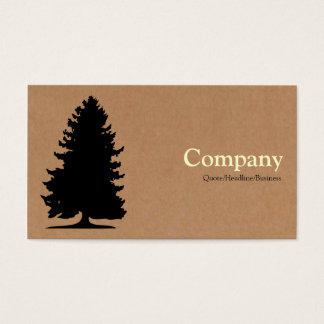 Fir Tree - Cardboard Box Business Card