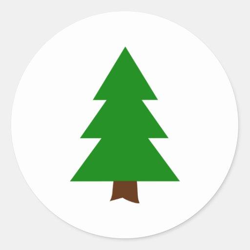 Fir tree classic round sticker